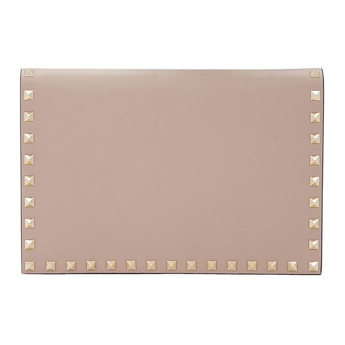 Pink Valentino Garavani Rockstud Wallet Pouch - Valentino