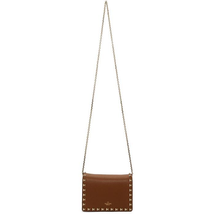 Brown Valentino Garavani Mini Rockstud Bag - Valentino