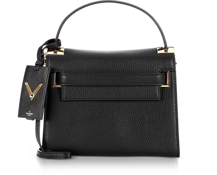 02235f30e7 Valentino Black My Rockstud Single Top Handle Bag at FORZIERI