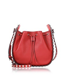 Rubin Leather Rockstud Small Bucket Bag - Valentino