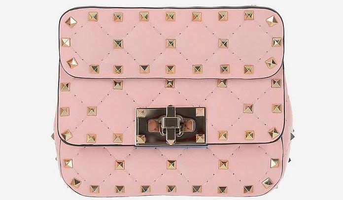 Pink Rockstud Spike Micro Shoulder Bag - Valentino