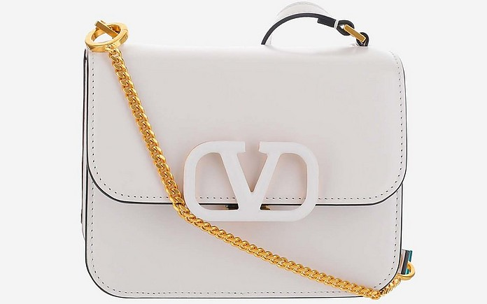 White VSling Small Shoulder Bag - Valentino Garavani