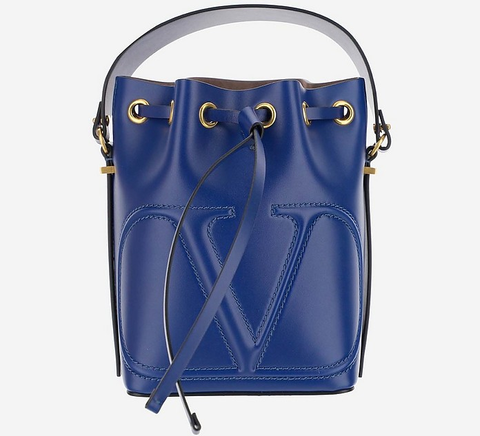 Navy Leather Bucket bag - Valentino