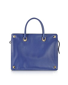 Blue China Leather Tote
