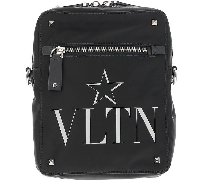 Black Nylon Signature and Star Crossbody Bag - Valentino