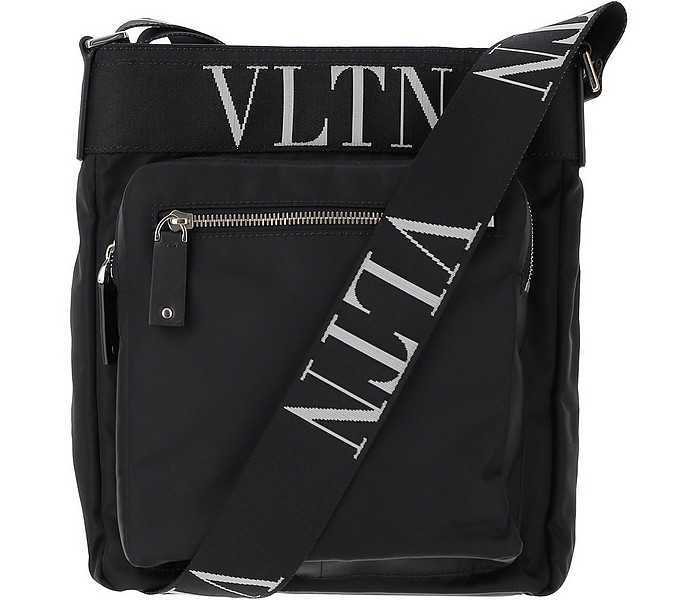 Black Nylon Crossbody Bag - Valentino
