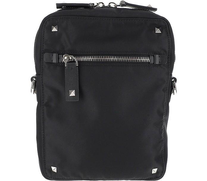 Black Nylon Shoulder Bag - Valentino Garavani