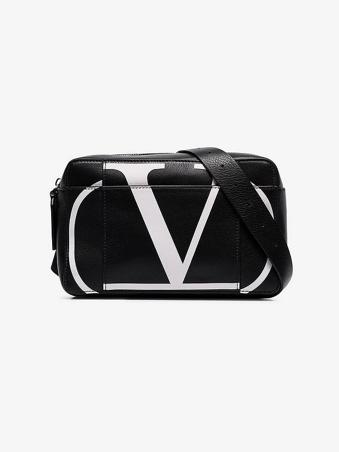 Valentino Belt Black valentino garavani V logo leather belt bag