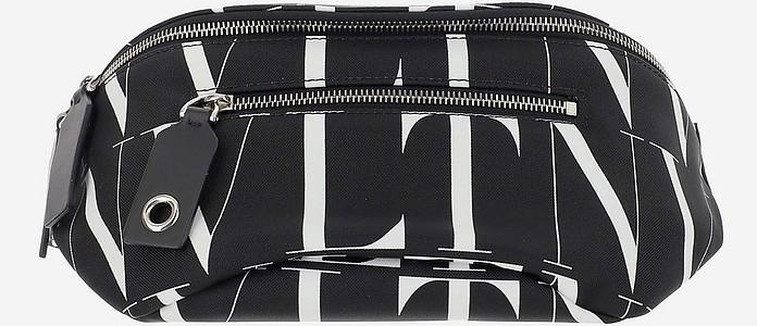 Black VLTN TIMES Printed Nylon Waistbag - Valentino Garavani