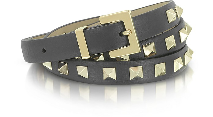Rockstud Skinny Leather Belt - Valentino
