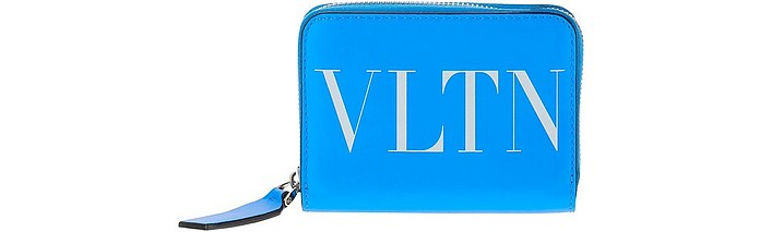 Blue VLTN Leather Wallet - Valentino / ヴァレンティノ