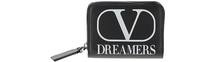 Black VLTN Leather Wallet - Valentino Garavani