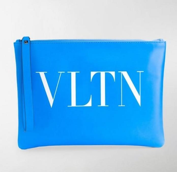 Turquoise VLTN Wallet Clutch - Valentino