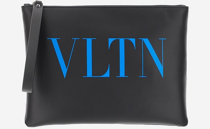 Large VLTN Leather Pouch - Valentino