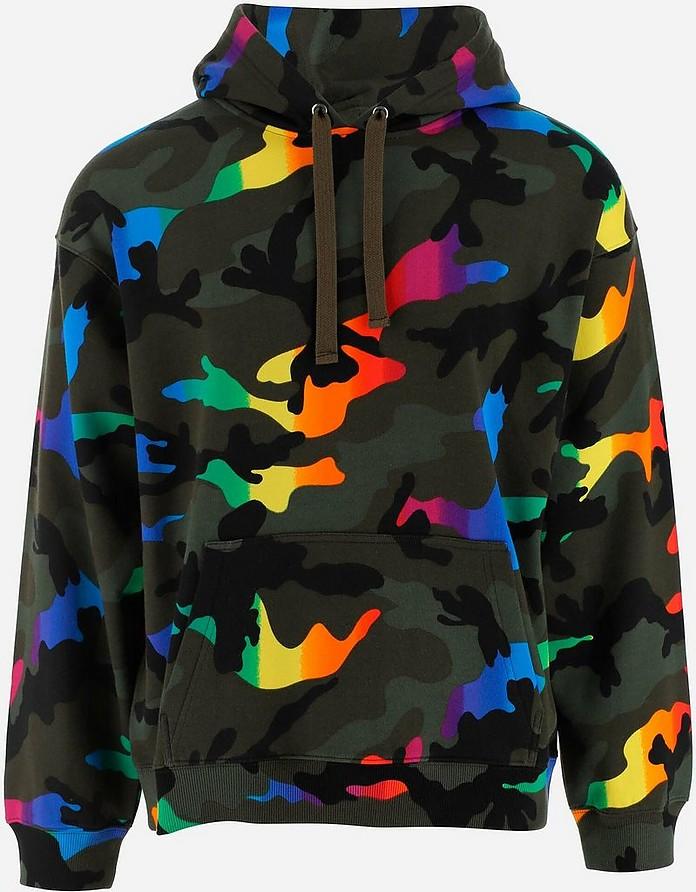 Camouflage Printed Cotton Men's Sweatshirt - Valentino