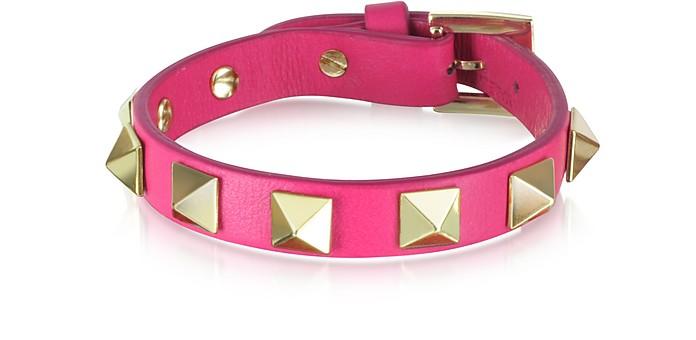 Pop Rockstud Leather Bracelet - Valentino
