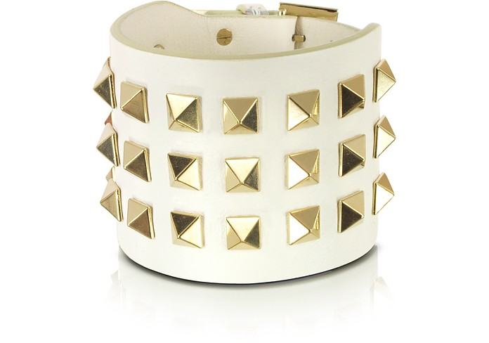 Pop Rockstud Leather Double Bracelet - Valentino Garavani