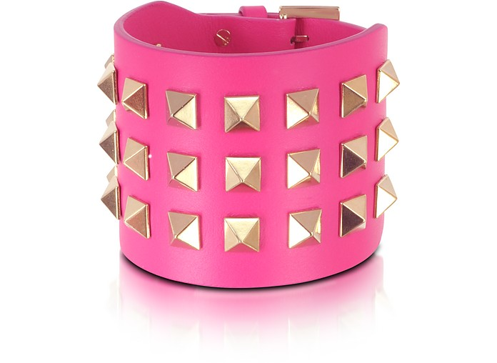 Pop Rockstud Leather Double Bracelet - Valentino