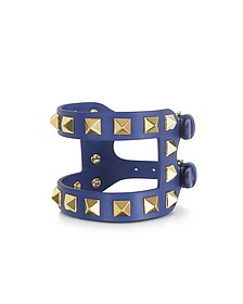 Rockstud Double Leather Bracelet