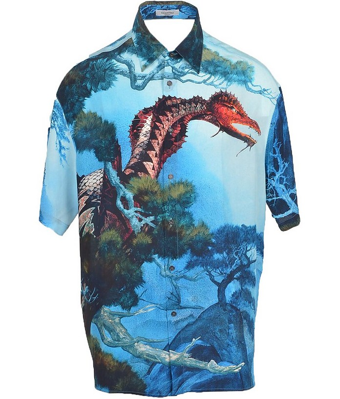 Men's Blue Shirt - Valentino