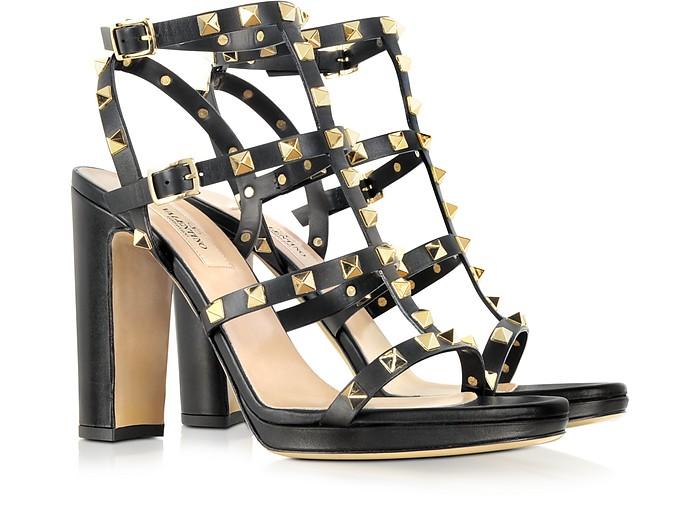Rockstud Noir High-Heeled Sandal - Valentino
