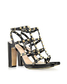 Rockstud Noir High-Heeled Sandal