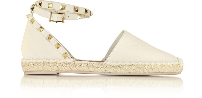 Rockstud Leather Espadrille - Valentino