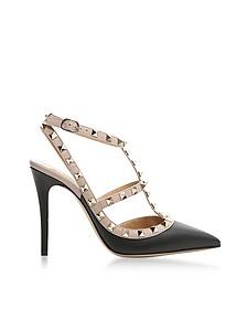 Black Rockstud Ankle Strap Pump - Valentino