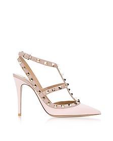 Pink Rockstud Ankle Strap Pump - Valentino