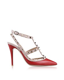 Red Rockstud Ankle Strap Pump - Valentino