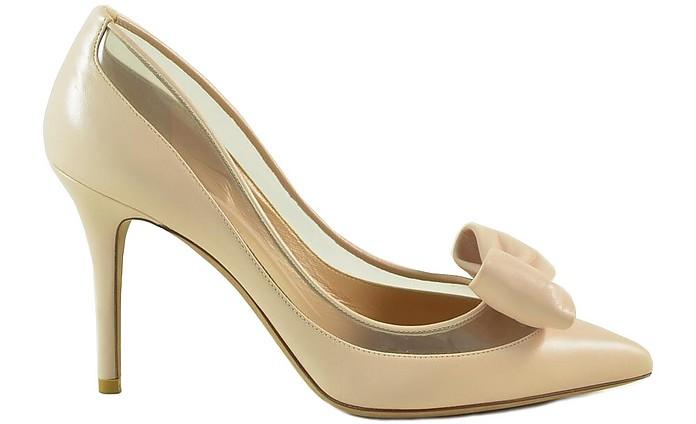 Nude Leather and Transparent PVC Bow Pumps - Valentino Garavani