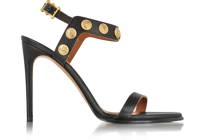 Gryphon Coin High Heel Leather Sandal - Valentino