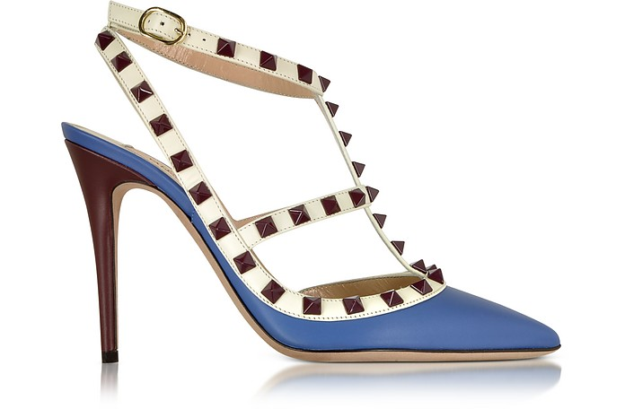 Rockstud Indaco Leather Slingback Pump - Valentino