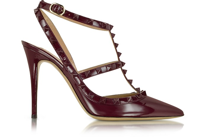 Rockstud Rubin Leather Slingback Pump - Valentino