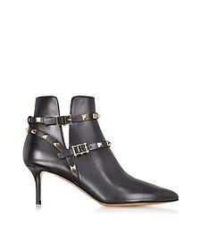 Black Rockstud Ankle Boot
