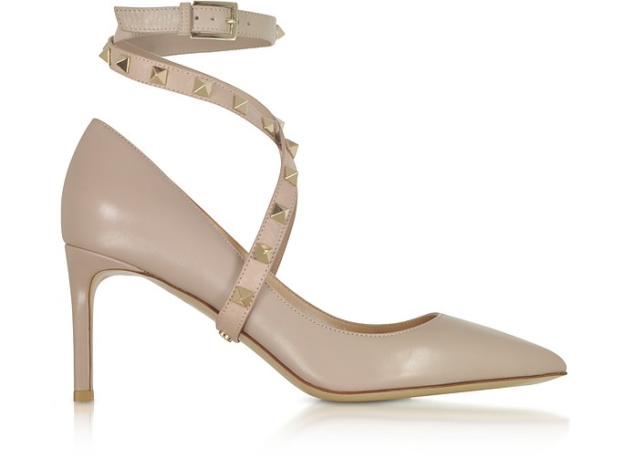 Powder Pink Studwrap Pumps - Valentino
