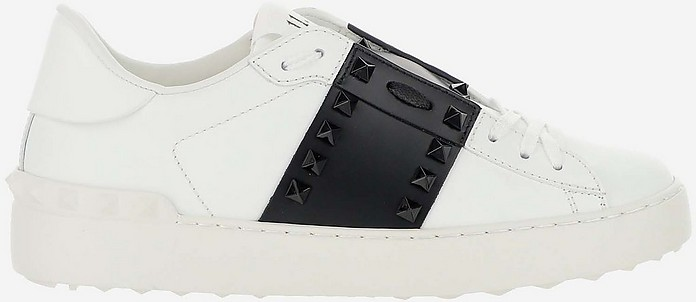 Black & White Rockstud Untitled Sneakers - Valentino / ヴァレンティノ
