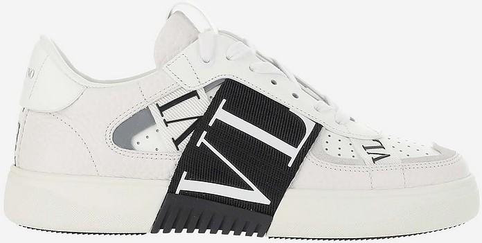White Banded Leather VL7N Women's Sneaker in  - Valentino Garavani