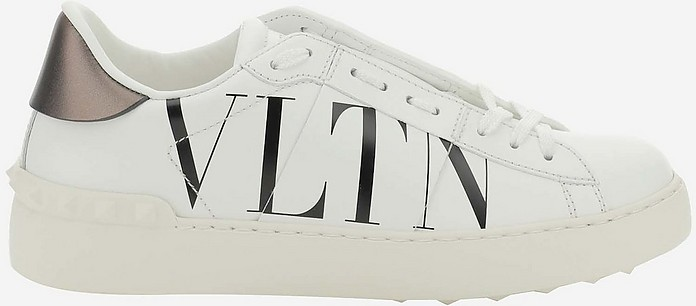 White/Gunmetal Open  VLTN Women's Sneakers - Valentino / ヴァレンティノ