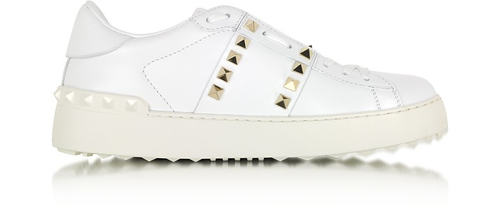 Rockstud Untitled White Leather Sneaker - Valentino
