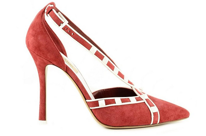 Red and White Suede Pumps - Valentino / ヴァレンティノ