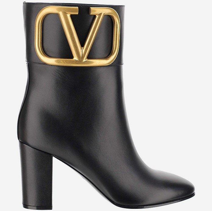 Black Ankle Boots - Valentino