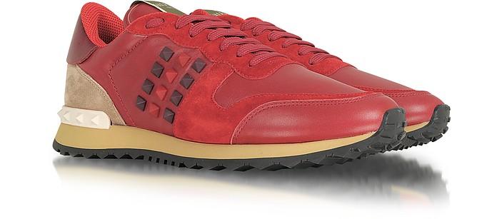 Rockstud Red Nappa Leather Sneaker - Valentino