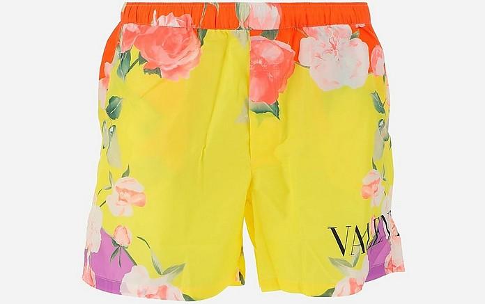 Flying Flower Men's Swim Shorts - Valentino Garavani