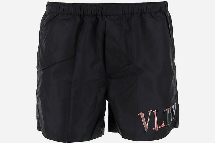 Blue VLTN Men's Swim Shorts - Valentino