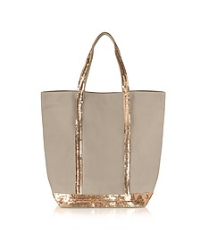 Les Cabas N/S Canvas and Sequin Tote