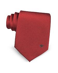 Solid Medusa Woven Silk Tie - Versace