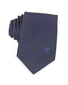 Woven Silk Narrow Tie w/Medusa - Versace