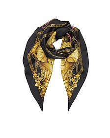 Heritage Ganimede Twill Silk Square Scarf - Versace