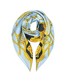 La Coupe Des Dieux Twill Silk Square Scarf  - Versace